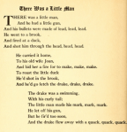 There Was a Little Man from Mother Goose Nursery Rhymes, text.