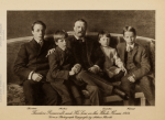Theodore Roosevelt and sons, from Theodore Roosevelt's Letters to his Children, 1919.