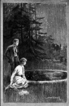 Frontispiece of The Pool of Stars, illustration by Edward C. Caswell.