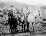 Theodore Roosevelt with hunting party, Colorado, 1905.