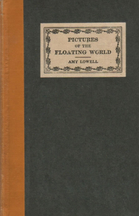 Cover, Pictures of the Floating World, Amy Lowell, 1919.