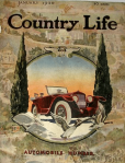 Country Life cover, January 1920, car in snow.