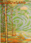 Shadowland cover, January 1920, trees with swirls of green.