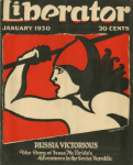 Liberator cover, Lydia Gibson, January 1920, woman with spear.