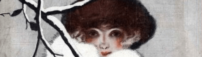 Woman's face, from La Vie Parisienne cover, January 1920.