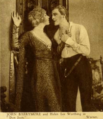 John Barrymore and Helen Worthing in Don Juan, 1926.