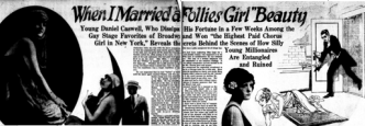 Headline, When I Married a Follies Girl Beauty, 1922