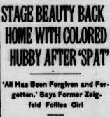 Headline: Stage Beauty Back Home With Colored Hubby After 'Spat'