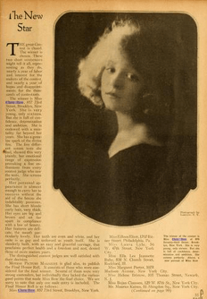 Clara Bow, Motion Picture magazine, January 1922.