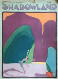 A.M. Hopfmuller February 1920 Shadowland cover, abstract landscape.