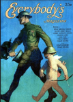 Everybody's magazine cover, March 1920, soldier with cupid in helmet.