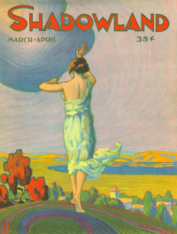 A.M. Hopfmuller Shadowland cover, March 1920.