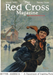 Norman Rockwell Red Cross cover, couple skating.