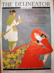 Delineator cover, March 1920, woman in cape.