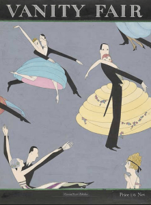 Anne Harriet Fish Vanity Fair cover, March 1920, couples dancing.