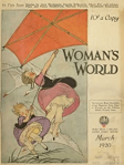 Woman's World cover, February 1920, children struggling with kite.