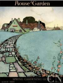 Harry Richardson House & Garden cover, March 1920, house with path and flowers.