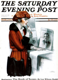 Neysa McMein Saturday Evening Post cover, March 6, 1920.
