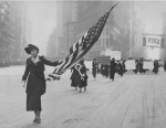 Neysa McMein marching in a suffragist parade, 1917.