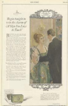 Soap advertisement, woman and man dancing, Ladies' Home Journal, 1920.