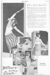 Corset ad, woman playing tennis, Ladies' Home Journal, 1920.