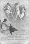 Dove undergarments ad, women flying through the sky in underwear, Ladies' Home Journal, April 1920.