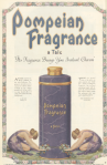 Pompeian fragrance ad, women bowing to huge perfume bottle, Ladies' Home Journal, 1920.