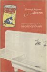Old Dutch Cleanser ad, sink on red background, Ladies' Home Journal, 1920.