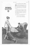 Vacuum cleaner ad, husband dropping things on floor as wife vacuums, Ladies' Home Journal, 1920.