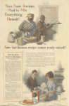 Aunt Jemima ad, Aunt Jemima and man making food, Ladies' Home Journal, 1920.