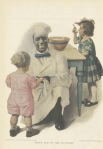 Cream of Wheat ad, chef with children, Ladies' Home Journal, 1920.
