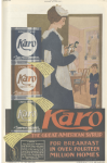Karo syrup ad, maid pouring syrup with boy, Ladies' Home Journal, 1920.