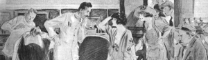 Crop of illustration from Bernice Bobs Her Hair, F. Scott Fitzgerald.