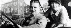 F. Scott and Zelda Fitzgerald on their honeymoon, 1920.