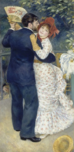 A Dance in the Country, Auguste Renoir, 1883, couple dancing.