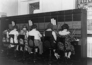 Women at C&P Telephone Exchange, Washington, D.C., ca. 1920, Herbert French.