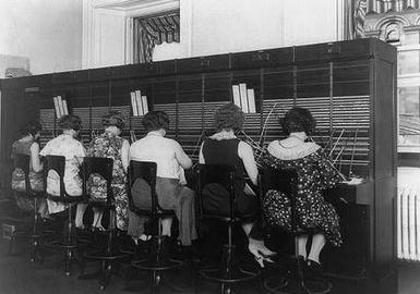 Women at C&P Telephone Exchange, Washington, D.C., ca. 1920, Herbert French.