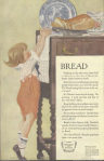 Fleischmann's Yeast ad, child reaching for bread, Ladies' Home Journal, 1920.