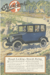 Overland car ad, family in car in countryside, Ladies' Home Journal, 1920.