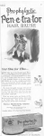 Prophelactic Penetrator hairbrush ad, man brushing hair, Ladies' Home Journal, 1920.