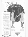 Polly Anna underwear ad, women in underwear with parrot, Ladies' Home Journal, 1920.