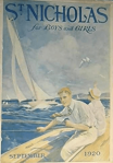 St. Nicholas cover, September 1915, Charles Livingston Bull, children sailing.
