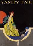 Vanity Fair cover, September 1915, Rita Senger, woman with sleeping Pierrot.