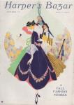 Erte Harper's Bazar cover, September 1915, three women