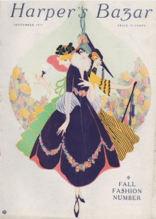Erte Harper's Bazar cover, September 1915, three women