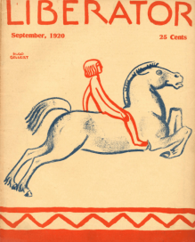 The Liberator, September 1920, Hugo Gellert, boy on flying horse.