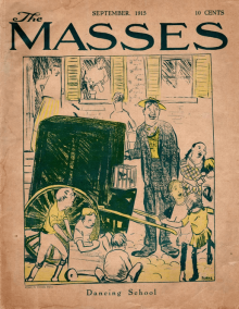 The Masses cover, September 1920, Cornelia Barnes, children dancing near organ grinder.