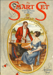 Smart Set cover, September 1920, man talking to woman on boat.