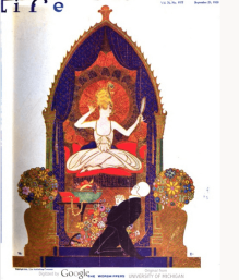 Life cover, Rea Irvin, September 23, 1920, woman on throne.
