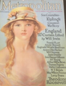Metropolitan cover, September 1915, young woman in straw hat.
